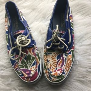Sperry Top Sider printed boat shoes